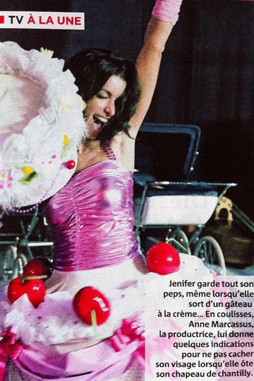 Cake dress — Jenifer for Les Enfoirés show, february 2011