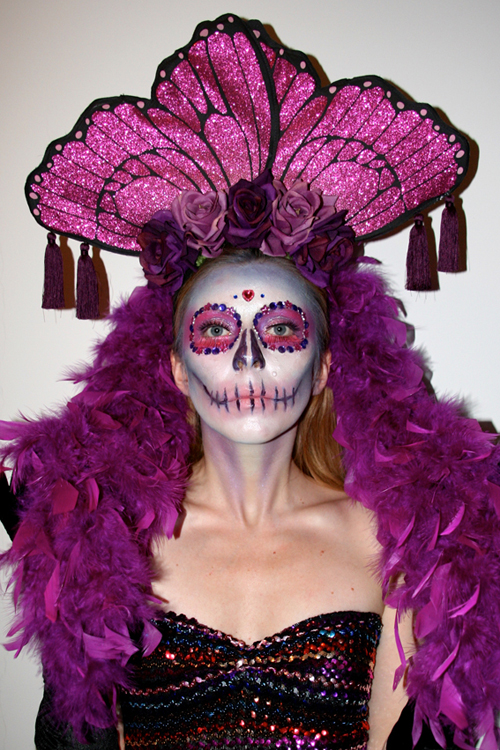 Butterfly Day of the Dead Headpiece