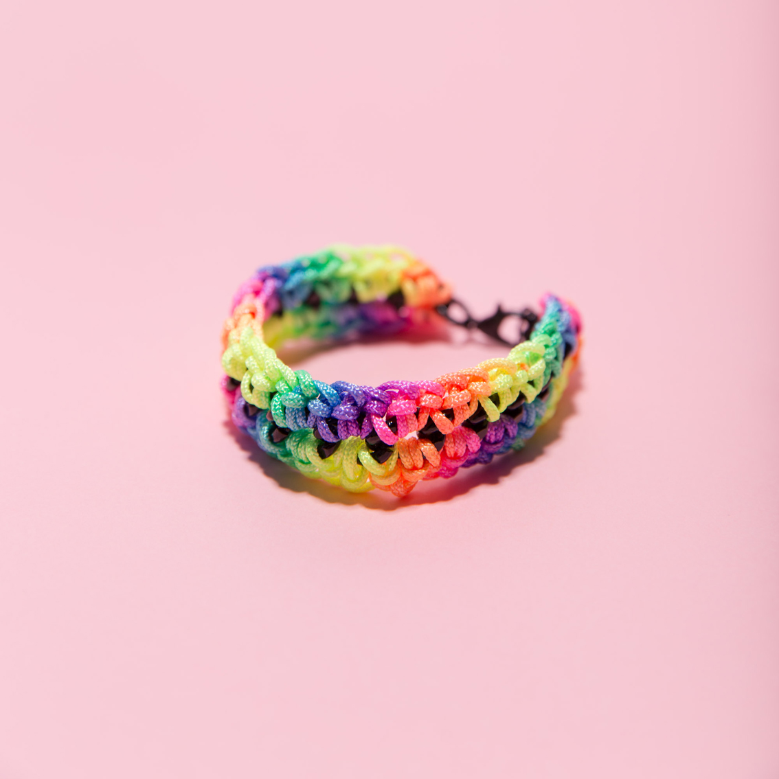 Rainbow Crocheted Bracelet