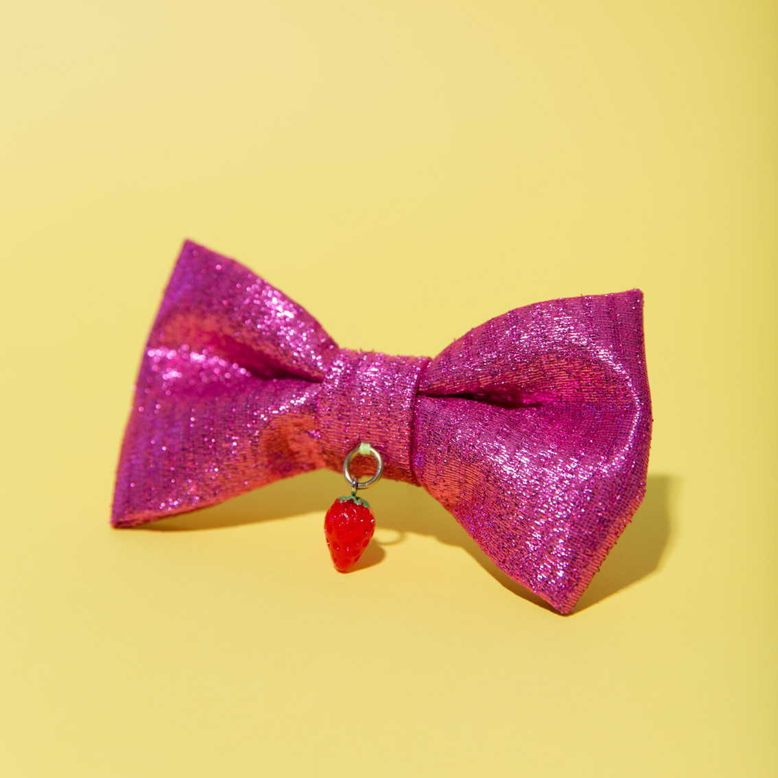 Kawaii Fuchsia/Strawberry Bow Clip