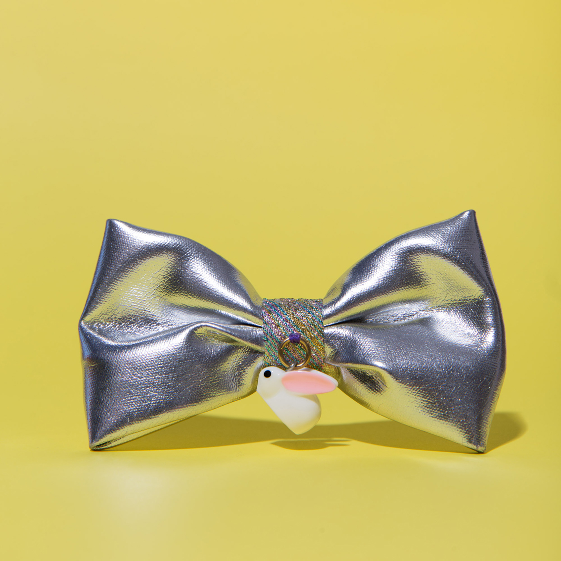 Kawaii Silver/Rabbit Bow Clip